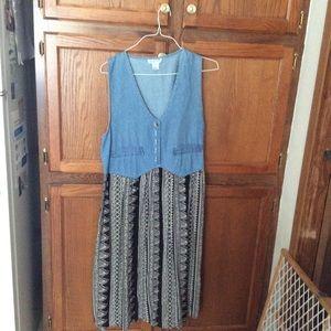 St. Julian women's blue jean top dress +